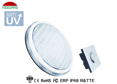 China Luz fina de la piscina del color blanco IP68 LED, cubierta ULTRAVIOLETA anti de la PC del ABS de la luz de la piscina Par56 distribuidor
