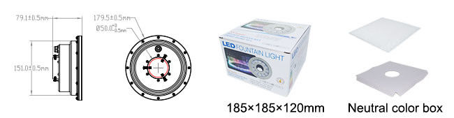 La fuente del acero inoxidable LED enciende la CA blanca/DC 12V 18W del color IP68
